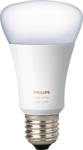 Philips - Hue White and Color Ambiance A19 Smart LED Bulb - Multicolor