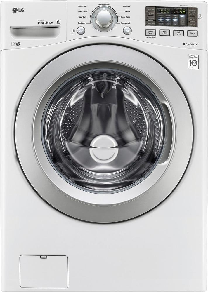 LG 4.5 Cu. Ft. 9-Cycle Front-Loading Washer White WM3270CW