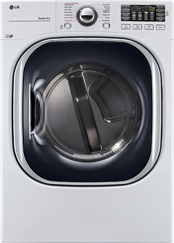 LG - 7.4 Cu. Ft. 14-Cycle Gas Dryer with Steam - White