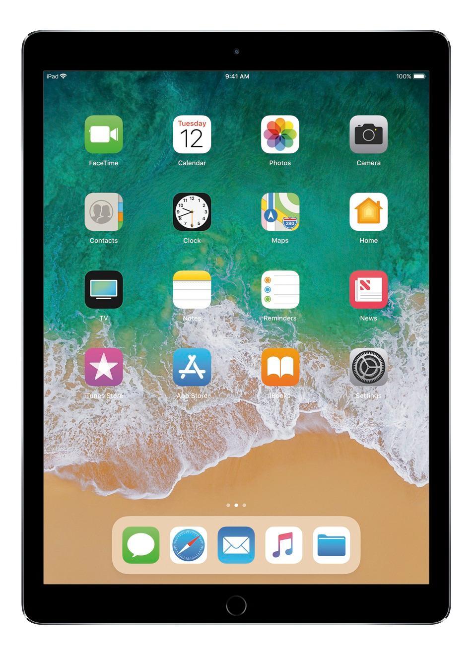 Apple - 12.9- Inch iPad Pro with Wi-Fi + Cellular - 128 GB (Verizon Wireless) - Space Gray