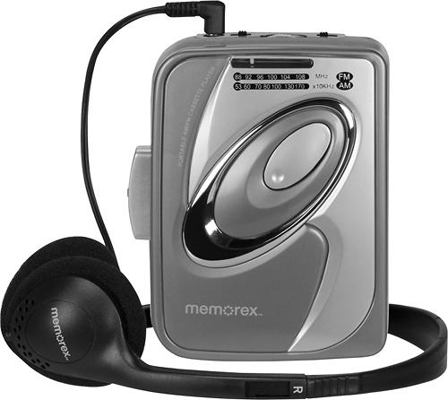 Memorex - Cassette Player with AM/FM Radio - Gray 5568321