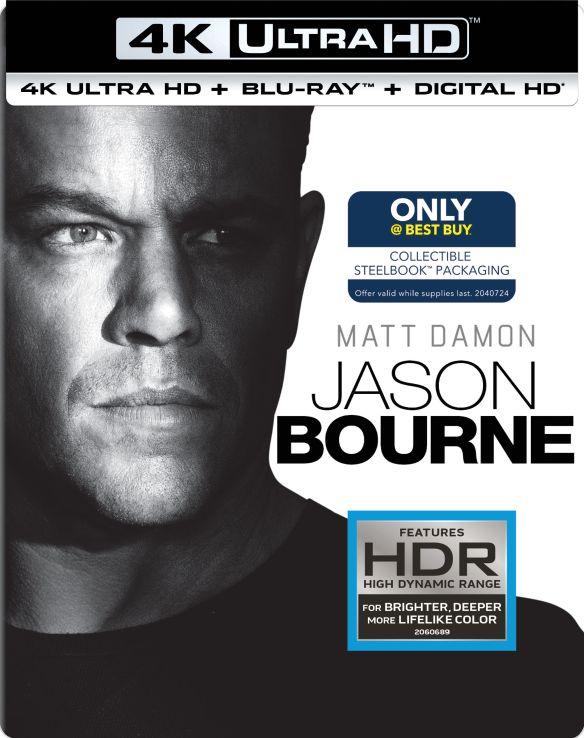 Jason Bourne [SteelBook] [Includes Digital Copy] [4K Ultra HD Blu-ray/Blu-ray] [Only @ Best Buy] [2016] 5572901