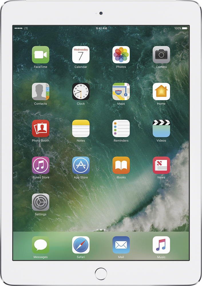 Apple iPad Air 2 with Wi-Fi + Cellular 64GB (Sprint) Silver MH2N2LL/A
