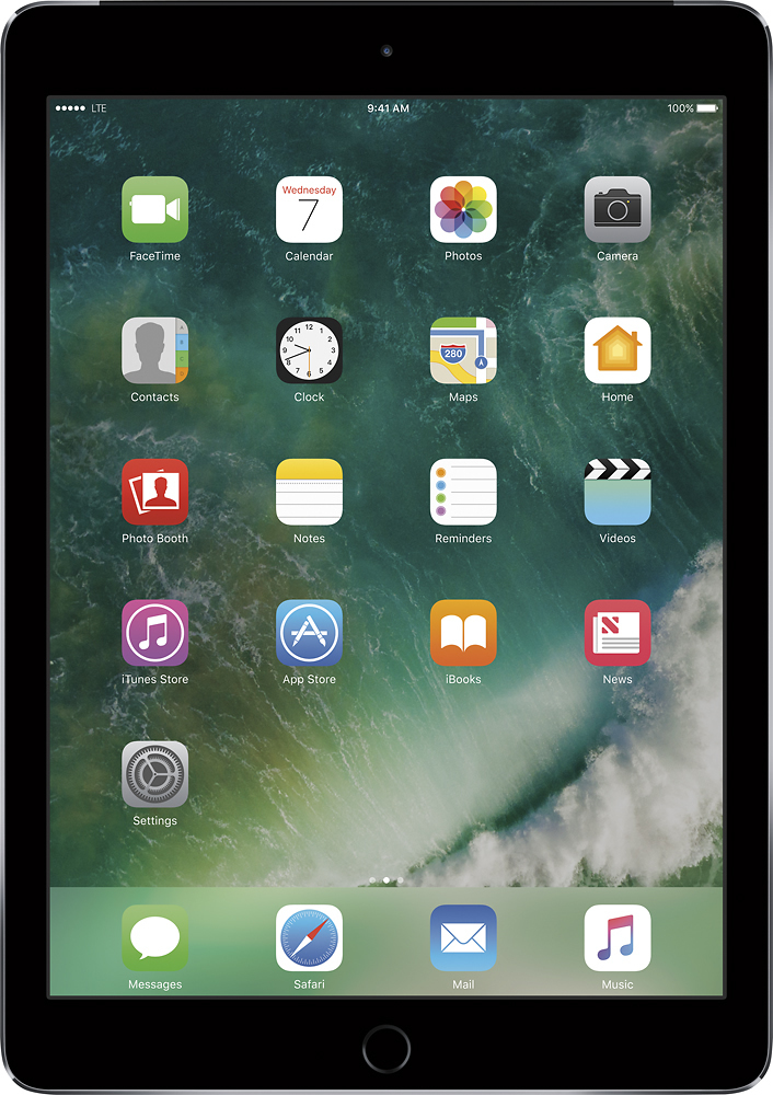 Apple iPad Air 2 with Wi-Fi + Cellular 64GB (Sprint) Space Gray MH2M2LL/A