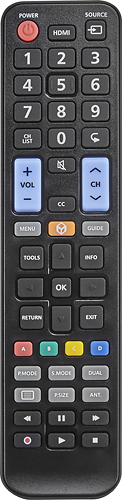 Insignia™ - Replacement Remote for Samsung TVs - Black 5577783