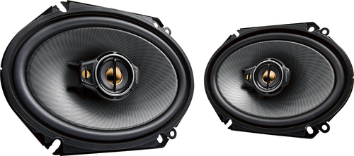 "Kenwood - 6"" x 8"" 3-Way Car Speakers with Polypropylene Cones (Pair) - Black"