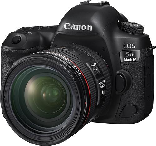 Canon - EOS 5D Mark IV DSLR Camera with 24-70mm f/4L IS USM Lens - Black