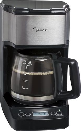 Capresso - Mini Drip 5-Cup Coffeemaker - Black/Stainless Steel 5579005