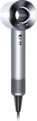Dyson - Supersonic™ Hair Dryer - White/Silver 3 speed and 4 heat settings; temperature sensor; magnetic attachments; balanced handle;