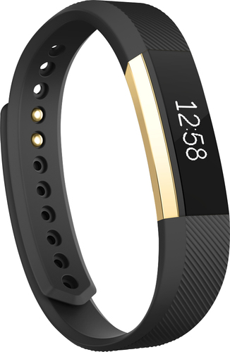 Fitbit - Alta Gold Series Activity Tracker (Large) - Black/Gold