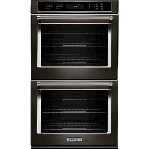 KitchenAid KODE507EBS - Oven (double oven) - built-in - niche - width: 25.5 in - depth: 24 in - height: 50.2 in - with self-cleaning - black stainless