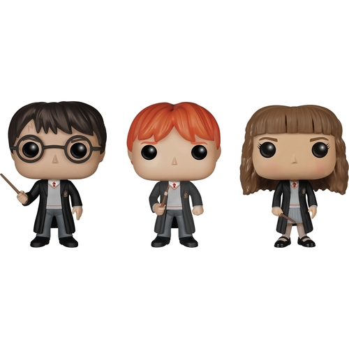 Funko - Harry Potter POP! Movie Vinyl Collectors Set: Harry Potter, Ron Weasley and Hermione 5580073