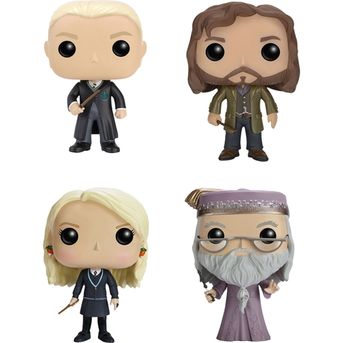 Funko - Harry Potter POP! Movies Collectors Set: Draco Malfoy, Sirius Black, Luna Lovegood and Dumbledore 5580263