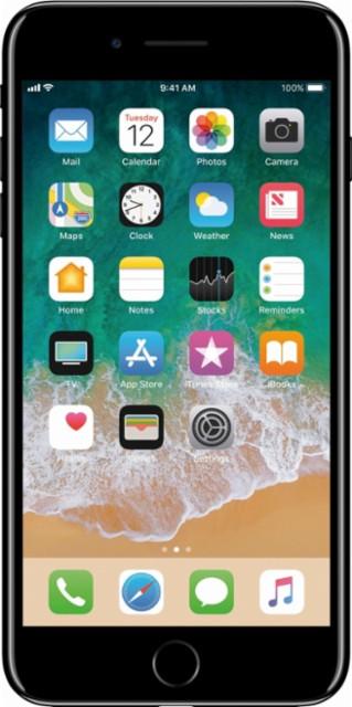 Apple - iPhone 7 Plus 128GB - Jet Black (AT&T)