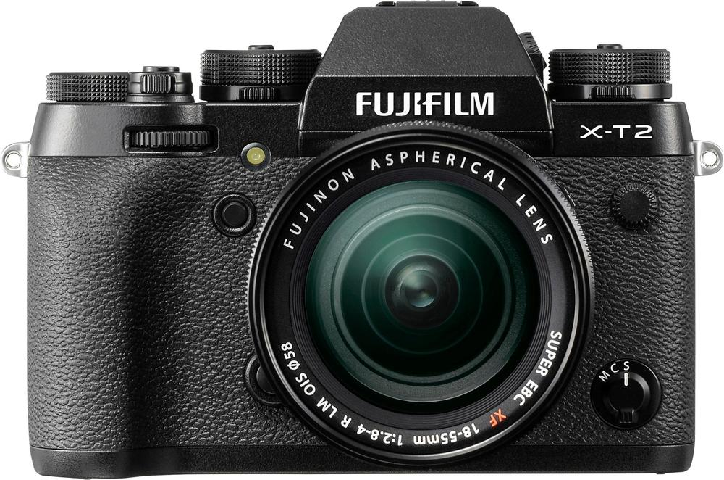 Fujifilm - X-T2 Mirrorless Camera with 18-55mm Lens - Black