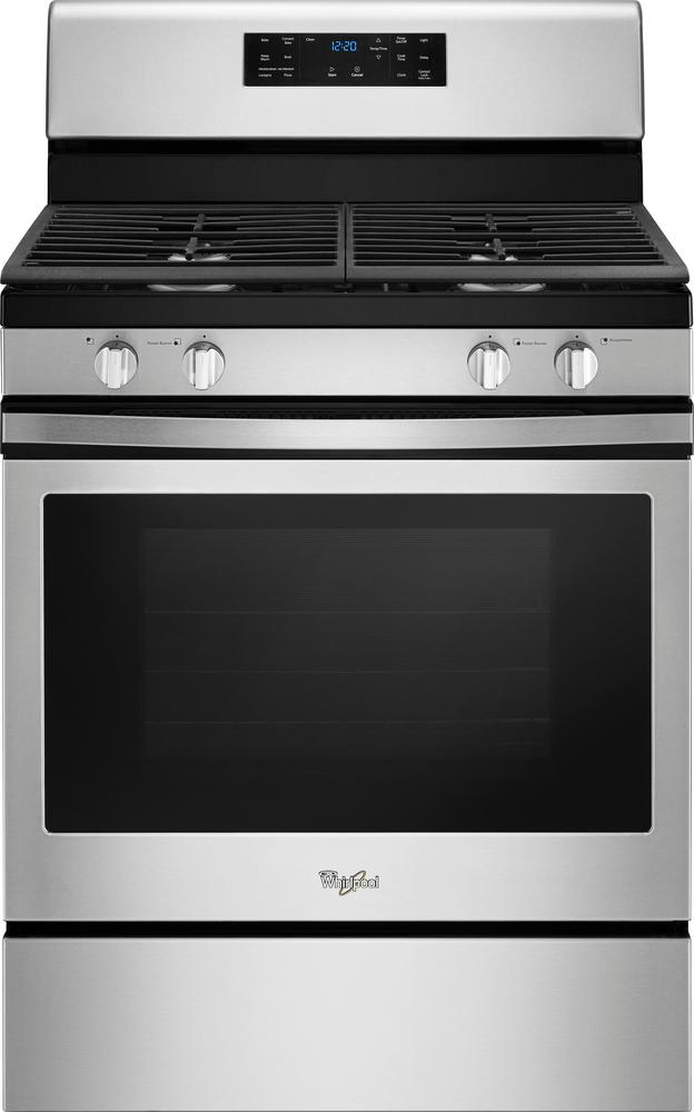 Whirlpool - 5.0 Cu. Ft. Self-Cleaning Freestanding Gas Convection Range - Stainless steel