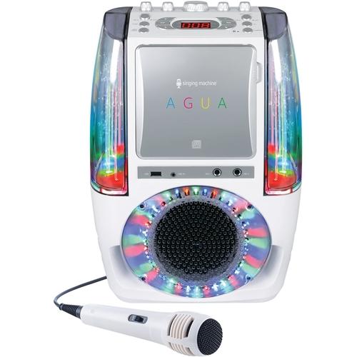 Singing Machine - AGUA CD+G Karaoke System - White