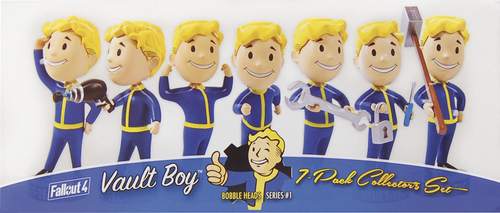Gaming Heads - FALLOUT 4: Vault Boy 111 Bobbleheads - Series One (7-Pack) 5581029