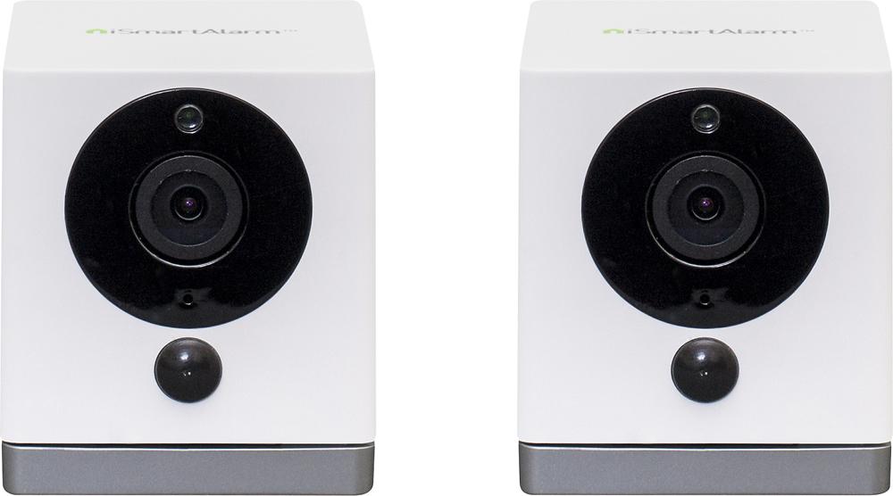 iSmartAlarm Spot Indoor Wi-Fi Network Surveillance Cameras (2-Pack) Black/Silver/White ISC5