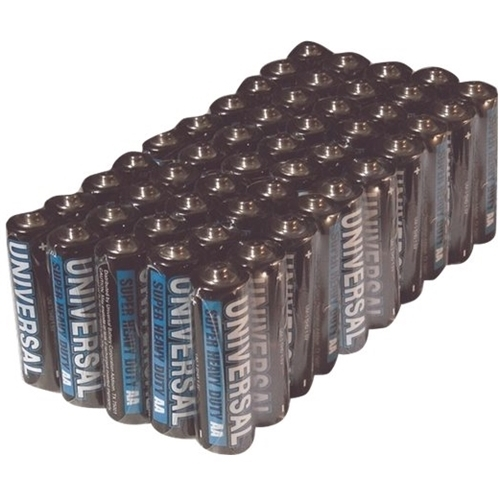 Universal Power Group - AA Batteries (50-Pack) Mercury free; up to 3-year shelf life