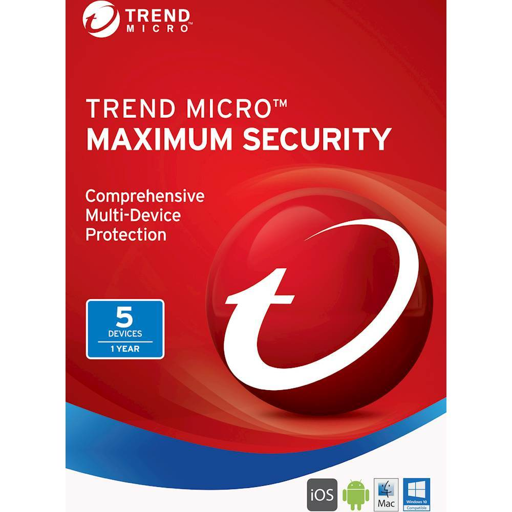 Trend Micro Maximum Security (5-Devices) (1-Year Subscription) Android|Mac|Windows|iOS TRE021800G312