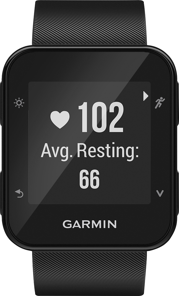 """Garmin Forerunner 35 Gps Running Watch, Sunlight-visible, 5 Atm Water Rating, 0.93"""" X 0.93"""" Display Size, 128x128 Pixels Resolution, Iphoneandroid Compatible, Black (010-01689-00)"""
