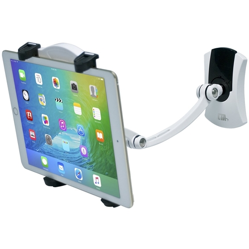 CTA - Wall, Under Cabinet & Desk Mount for Most Tablets - Gray/Black Compatible with most tablets; soft rubber