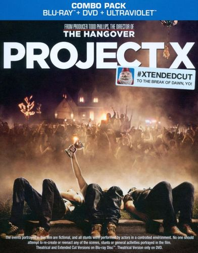 Project X [Blu-ray/DVD] [Extended Cut] [Includes Digital Copy] [UltraViolet] [2012] 5606603
