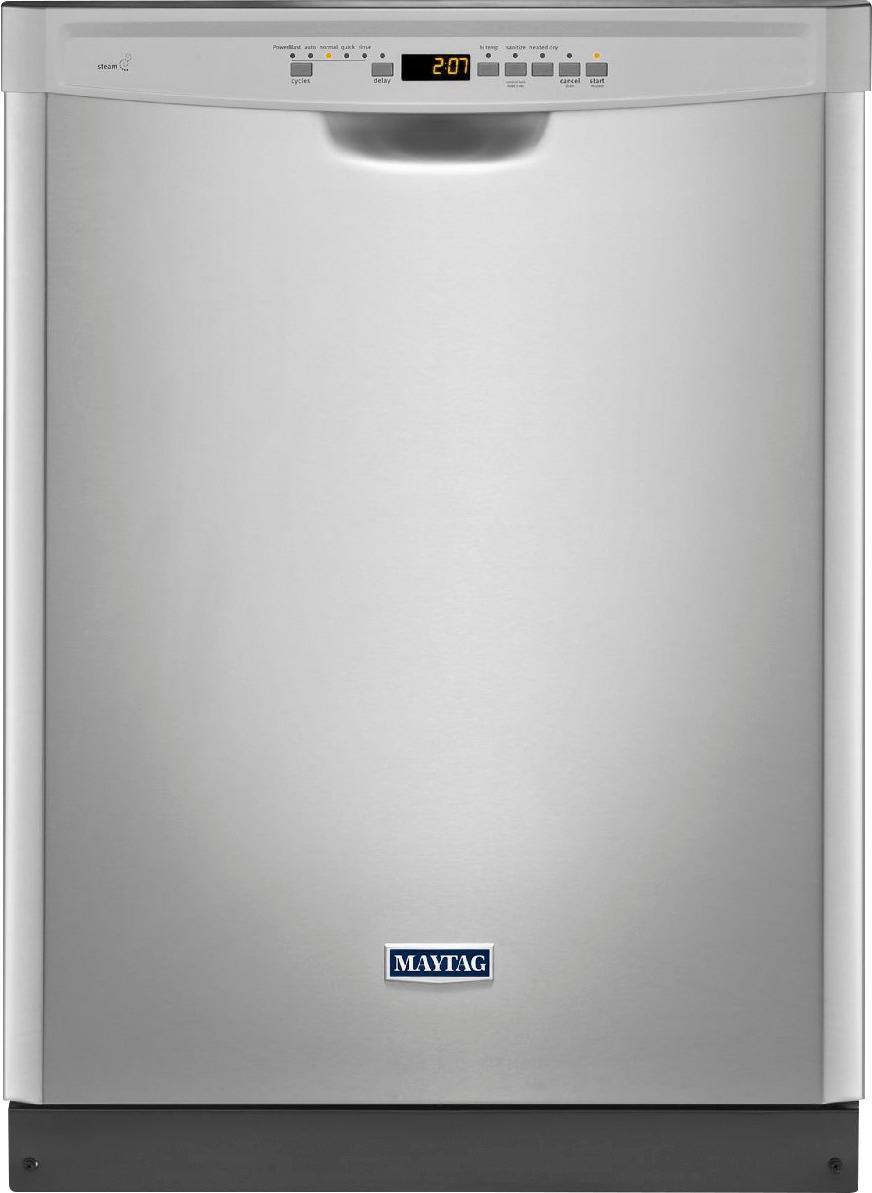 "Maytag 24"" Built-In Dishwasher Fingerprint Resistant Stainless Steel MDB4949SDZ"
