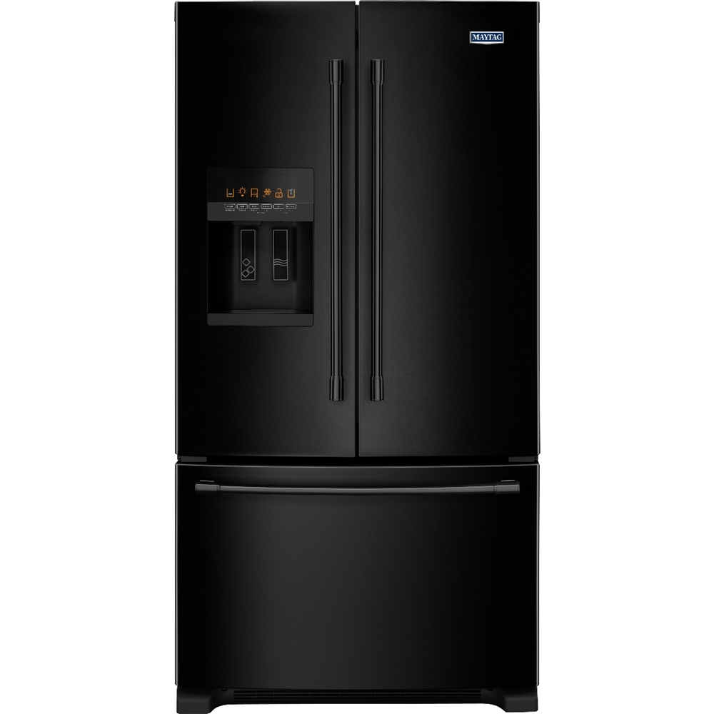 Maytag 247 Cu Ft French Door Refrigerator Black On Black