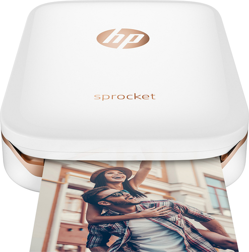 HP Sprocket Portable Photo Printer - White (X7N07A)