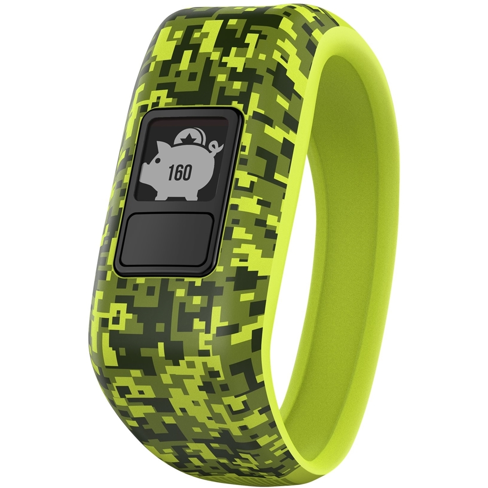 Garmin Vívofit Jr, Kids Fitnessactivity Tracker, 1year Battery Life, Green, Digi Camo