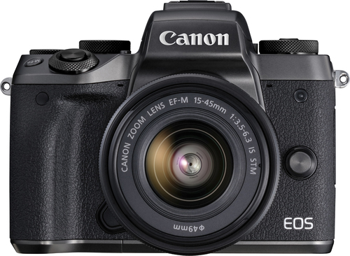 Canon - EOS M5 Mirrorless Camera with EF-M 15-45mm Zoom Lens - Black