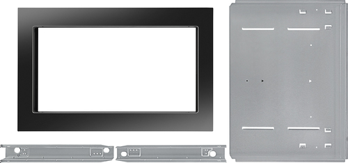 KitchenAid - 30  Trim Kit for KitchenAid KCMS2255B Microwave - Black Compatible with 2.2 cu. ft. KitchenAid KCMS2255B microwave; creates a built-in look; stainless-steel material