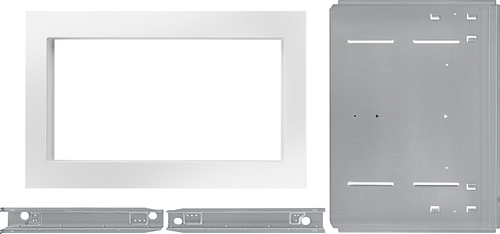 KitchenAid - 27  Trim Kit for KitchenAid KCMS2255B Microwave - White Compatible with 2.2 cu. ft. KitchenAid KCMS2255B microwave; creates a built-in look; stainless-steel material