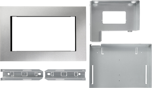 KitchenAid - 30  Trim Kit for KitchenAid Microwave - Stainless steel Compatible with 1.5 cu. ft. KitchenAid microwave; creates a built-in look; stainless-steel material