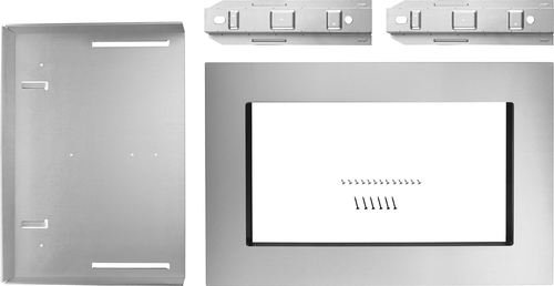 KitchenAid - 27  Trim Kit for KitchenAid Microwave - Stainless steel Compatible with 1.5 cu. ft. KitchenAid microwave; creates a built-in look; stainless-steel material