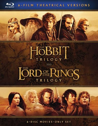 Middle-Earth Theatrical Collection: 6-Film Theatrical Versions [Blu-ray] [6 Discs] 5629006