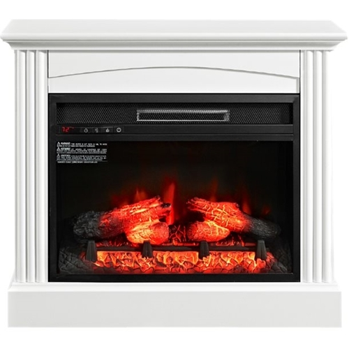 Whalen Furniture - Electric Fireplace - Cottage white