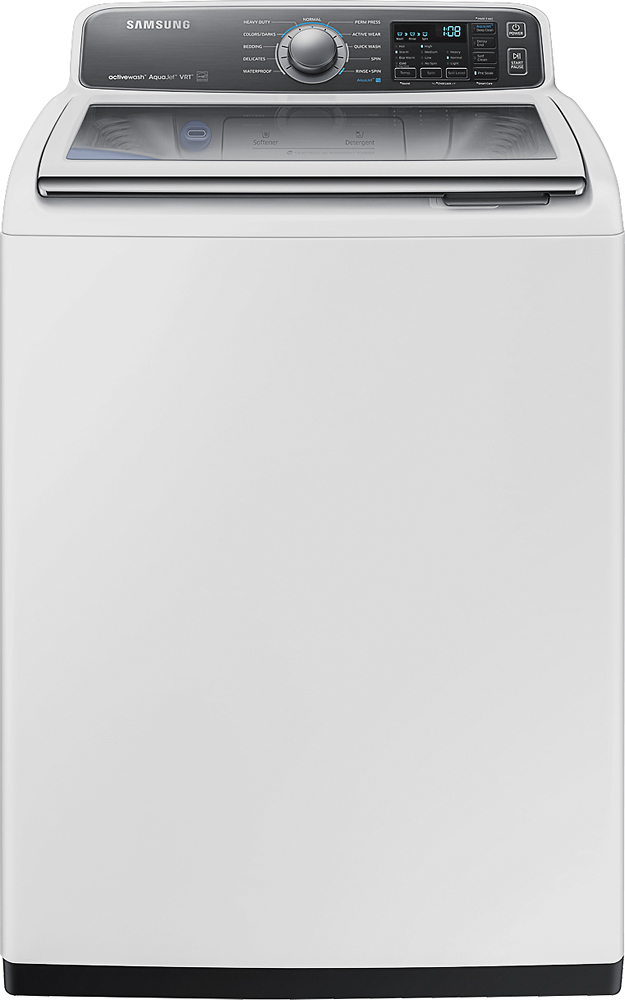Samsung activewash 4.8 Cu. Ft. 11-Cycle High-Efficiency Top-Loading Washer White WA48J7700AW/AA