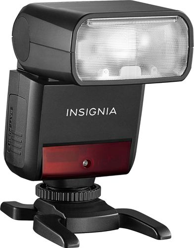 Insignia™ - Compact TTL Flash for Sony Cameras - Black
