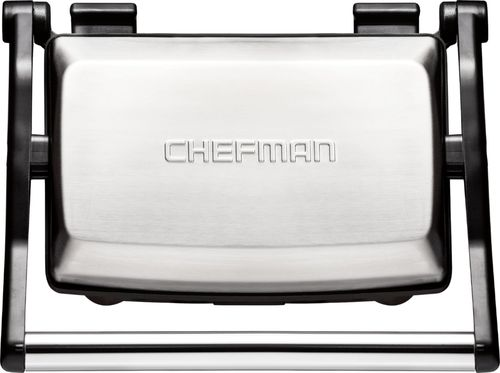 Chefman - Grill + Panini Press - Stainless Steel