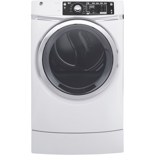GE - RightHeight 8.3 Cu. Ft. 13-Cycle Electric Dryer with Steam - White