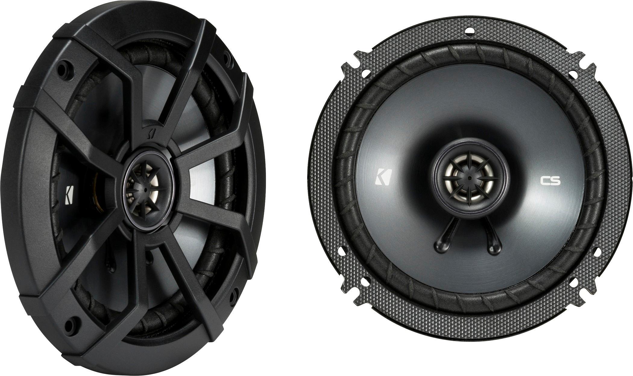 "KICKER - CS Series 6-1/2"" 2-Way Car Speakers with Polypropylene Cones (Pair) - Black"