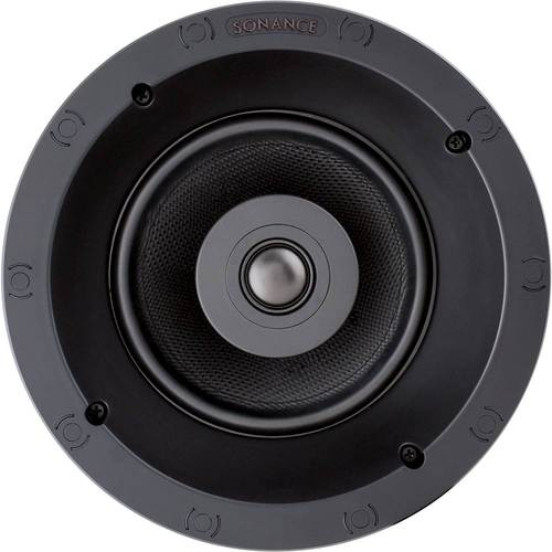 """Sonance - Visual Performance Thin Line 6-1/2"""" 2-Way In-Ceiling Speaker (Each) - Paintable White"""