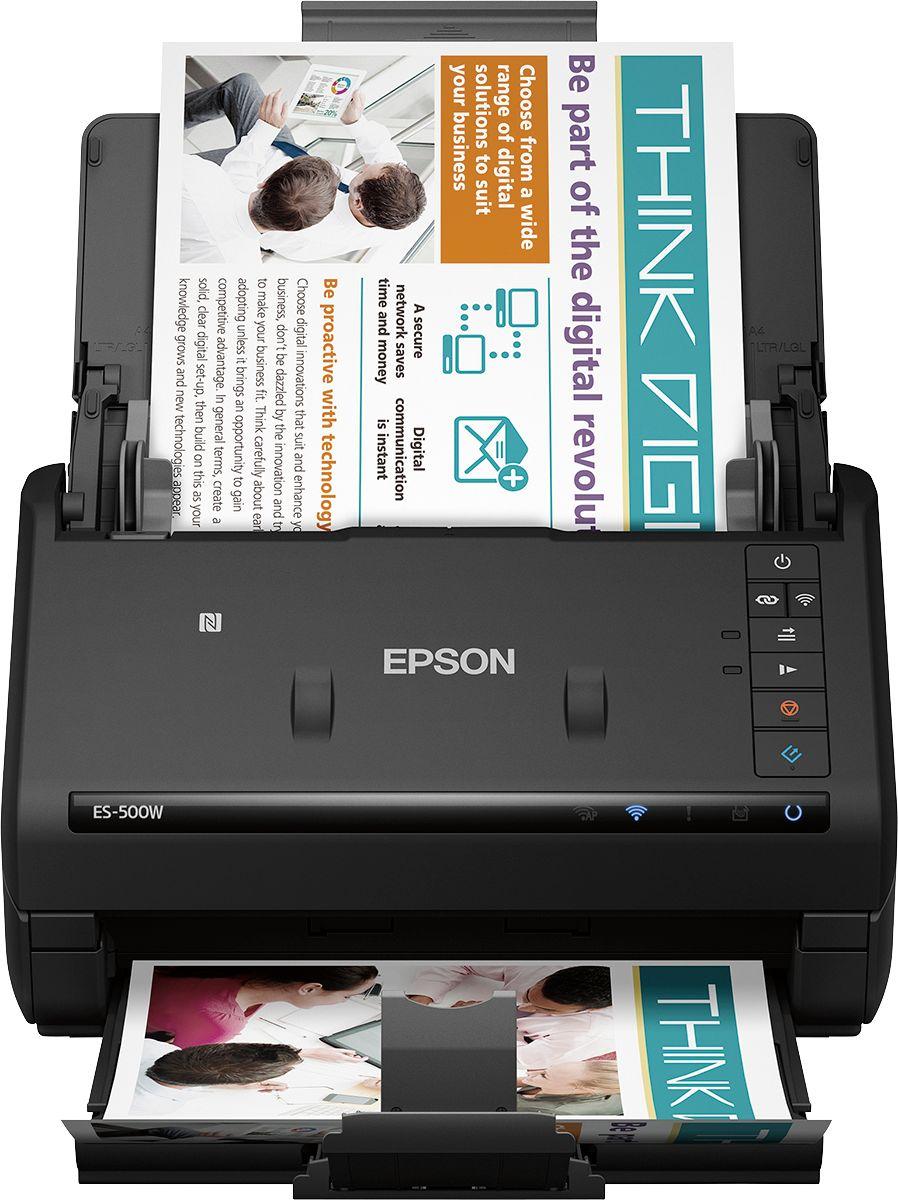 Epson WorkForce ES-500W Wireless Document Scanner Black B11B228201