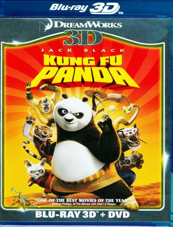 Kung Fu Panda [3 Discs] [3D] [Blu-ray/DVD] [Blu-ray/Blu-ray 3D/DVD] [2008] 5701194