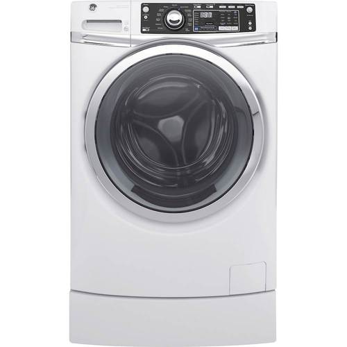 GE - RightHeight 4.9 Cu. Ft. 13-Cycle Front-Loading Washer - White 5702700