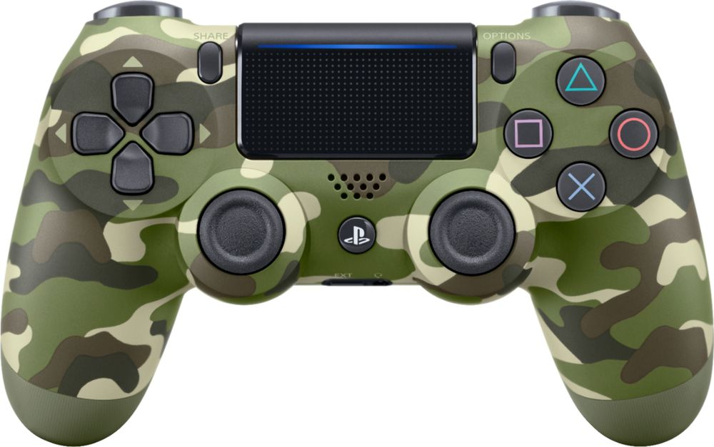 Sony – Dualshock 4 Wireless Controller for Sony PlayStation 4 – Green Camouflage