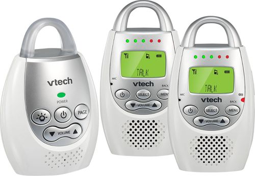 VTech - DM221-2 2-Unit Audio Baby Monitor with up to a 1000' Range - white